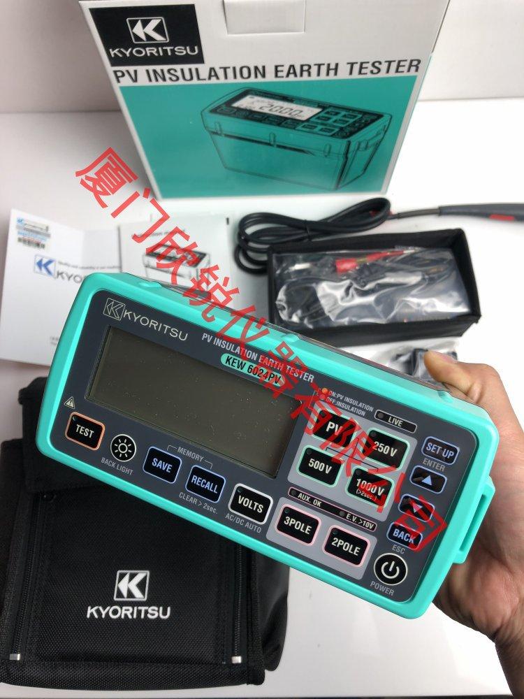 KEW6024PV多功能光伏绝缘接地测试仪绝缘接地测试仪绝缘电阻计