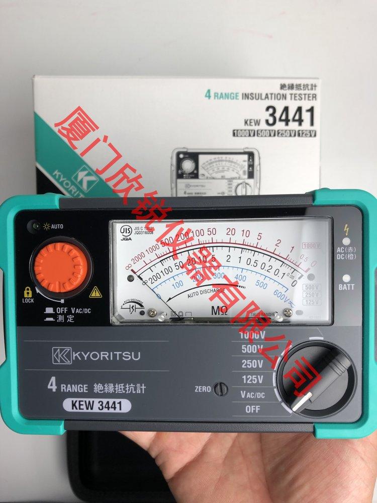 KEW3441日本克列茨兆欧表绝缘电阻仪指针摇表绝缘电阻测试仪3441
